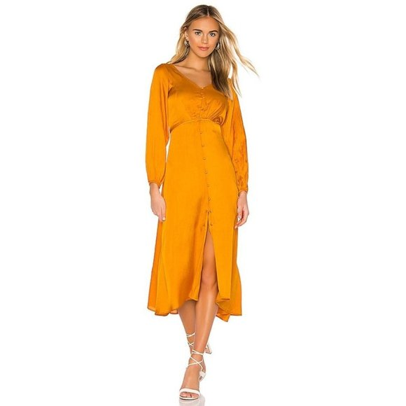 Free People Later Days Maxi Dress in Tangerine 8